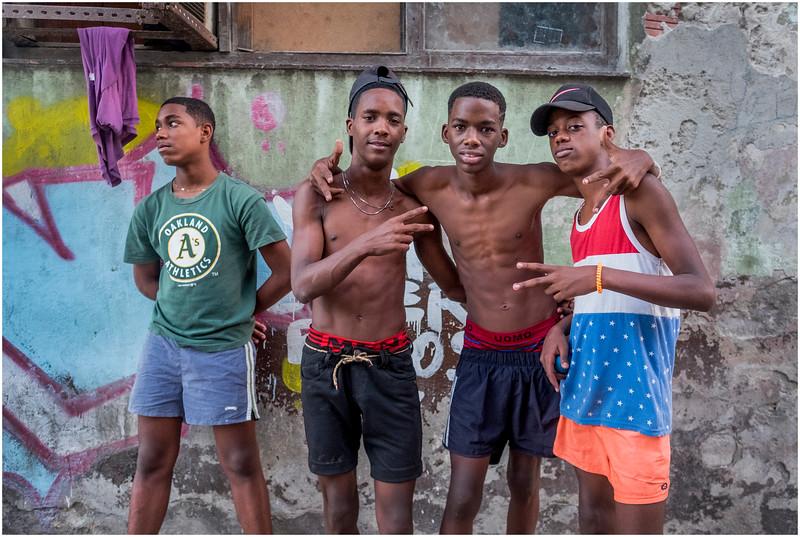 84 Cuba Havana Centro Havana Four Boys March 2017
