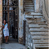68 Cuba Havana Centro Havana Woman near Staircase March 2017