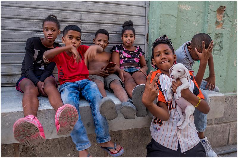 85 Cuba Havana Centro Havana Six Kids 1 March 2017