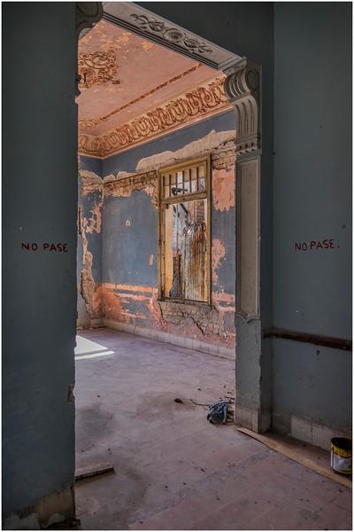 70 Cuba Havana Santos Suarez Abandoned Colonial Mansion 1 March 2017