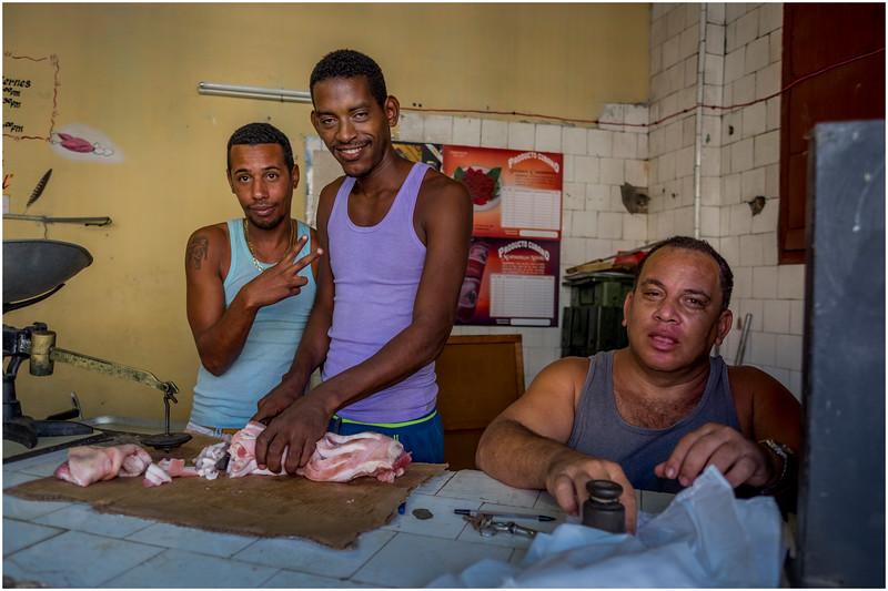 52 Cuba Havana Santos Suarez Butcher Shop March 2017