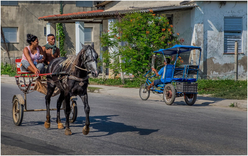 93 Cuba Playa Baracoa 4 Street Scene Horse and Buggy March 2017