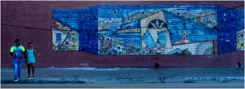 37 Cuba Havana Centro Havana Couple and Mural March 2017