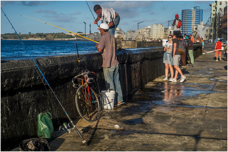 25 Cuba Havana Centro Havana El Malecon Fishermen 2 March 2017