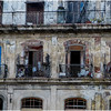 Cuba Havana Old Havana Facade with Balconies March 2017