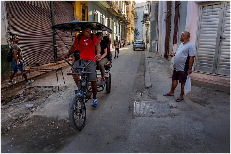 Cuba Havana Old Havana Bici Taxi 18 March 2017