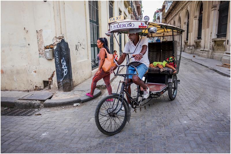 Cuba Havana Old Havana Bici Taxi 4 March 2017