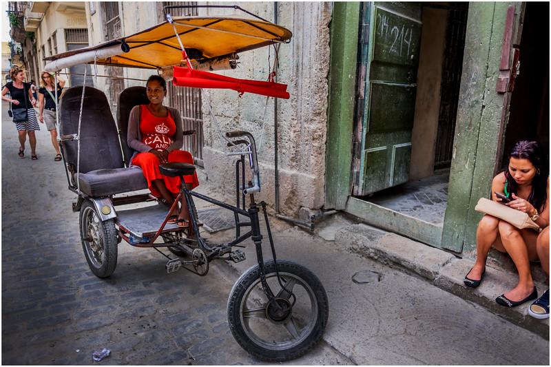 Cuba Havana Old Havana Bici Taxi 3 March 2017