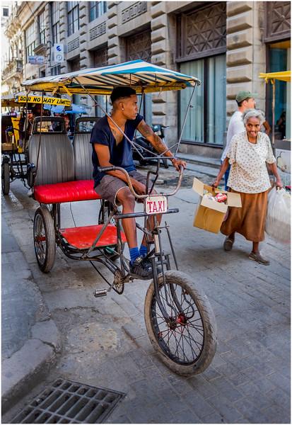 Cuba Havana Old Havana Bici Taxi 14 March 2017
