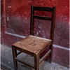 Cuba Havana Old Havana Chair and Red Wall March 2017
