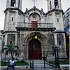Cuba Havana Old Havana Church and Sitting Man March 2017