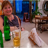Cuba Havana Old Havana Kim with Beer at Restaurant 2 March 2017