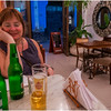 Cuba Havana Old Havana Kim with Beer at Restaurant 1 March 2017