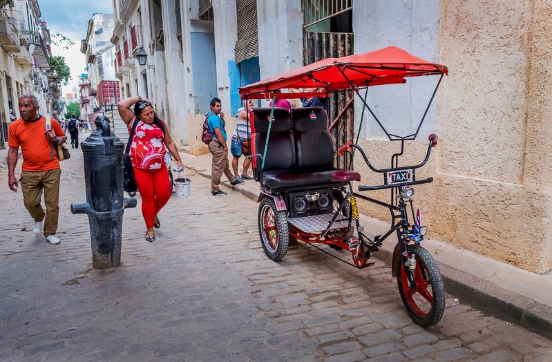Cuba Havana Old Havana Bici Taxi 2 March 2017