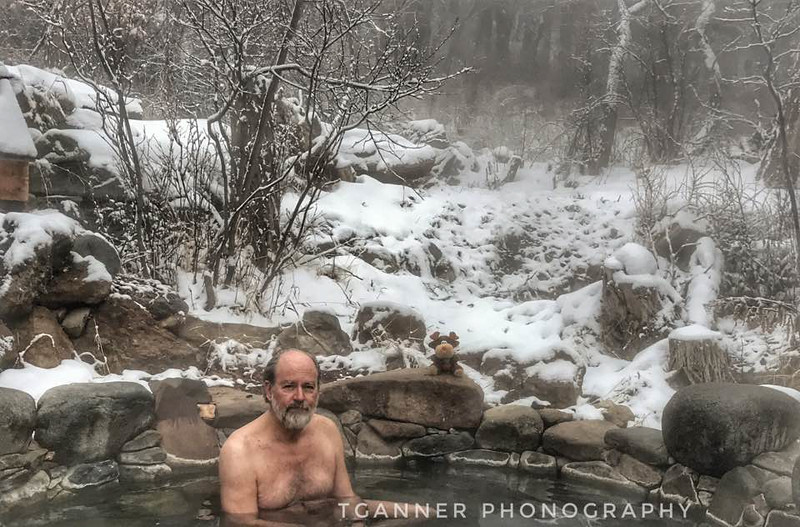 Chilly morning, warm water, good company. Perfect way to start the day in the Orient Land Trust of Valley View Hot Springs.