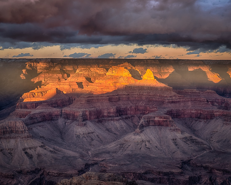 Arriving in time for sunset from Mather Point