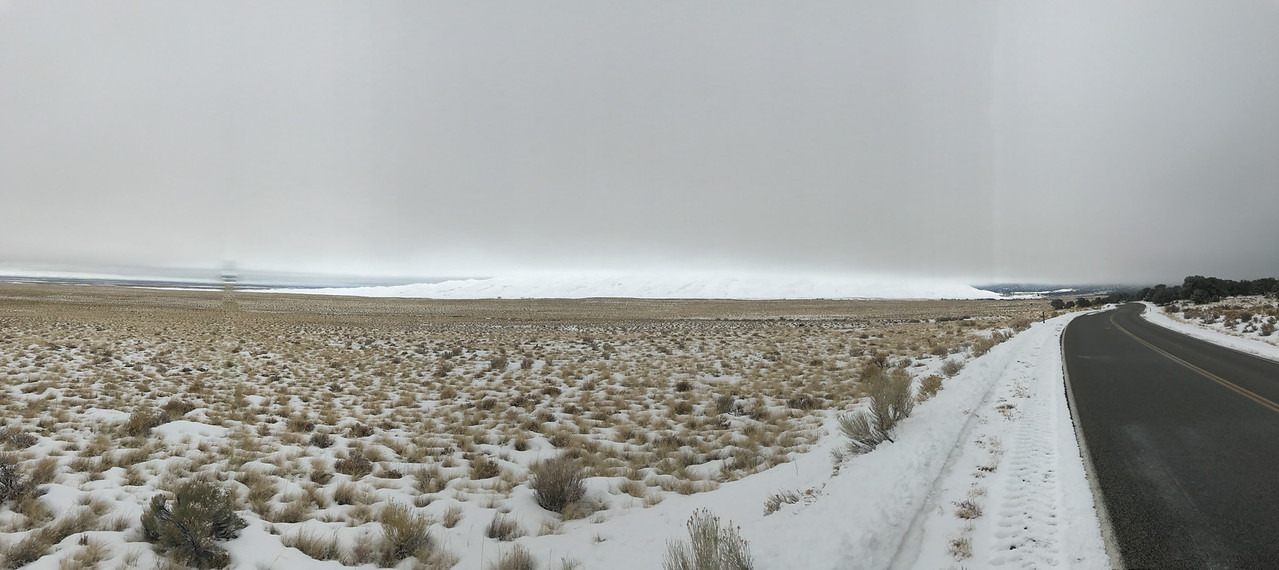 Approaching Great Sand Dunes in Colorado, we saw snow covered dunes covered in clouds. It improved as we spent time in this interesting park.