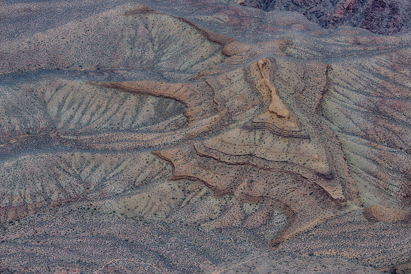 Colors and hues of the Bright Angel Shale on the Tonto Plateau