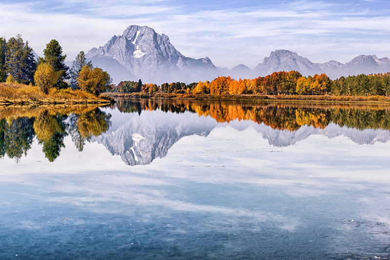 "December 31, 2012 - ""Morning At Mount Moran""<br /> <br /> This was shot on an autumn morning in the Grand Teton Mountains in Wyoming. The image was created from three stitched together portrait photographs."