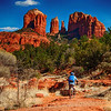 "March 25, 2013 - ""Riding Red Rocks""<br /> <br /> This was shot last week along Oak Creek in Sedona, Arizona with Cathedral Rock in the distance."