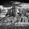 "April 3, 2013 - ""Towering""<br /> <br /> The beautiful red tones of the Sedona area seem to impress even in monochrome.."