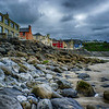 - looking along the beach line at Lahinch, Ireland