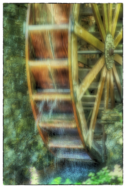 "May 8, 2013  - ""Gently Falling Water""<br /> <br /> - at the old Gristmill at the Log Cabin Village in Ft. Worth"