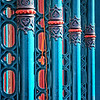 "November 16, 2009 - ""Victorian Architecture""<br /> <br /> These ground floor cast iron posts are part of the front of the Greenleve, Block and Co. Building built in 1882 on the strand in Galveston.  The building has once again been restored after being under nine feet of saltwater in Hurricane Ike."