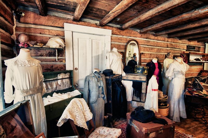 "December 29, 2010 - ""The Latest Fashion Statement""<br /> <br /> A clothing line is presented in a log cabin museum building in Frisco, Colorado."