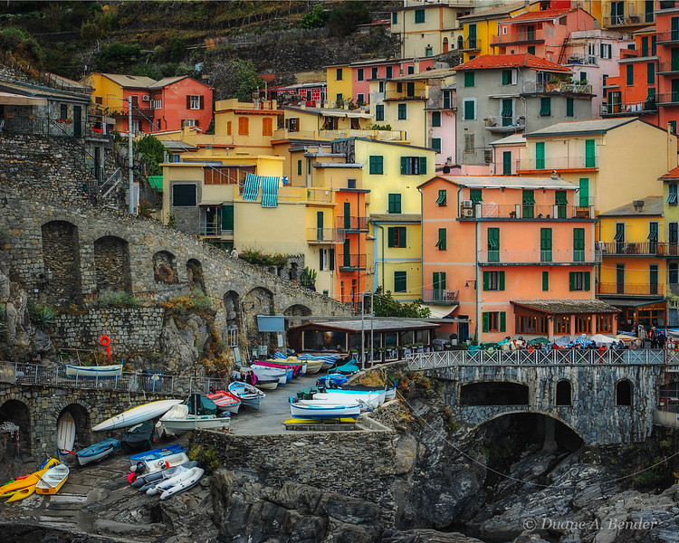 "December 26, 2010 - ""Manarola Village Colors""<br /> <br /> I am still working on my rainy day in Italy images and have really enjoyed investigating color variations."