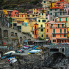 "December 26, 2010 - ""Manarola Village Colors""  I am still working on my rainy day in Italy images and have really enjoyed investigating color variations."