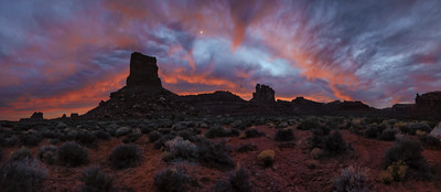 Sunrise Valley of the gods in Bears Ears National Monument Utah