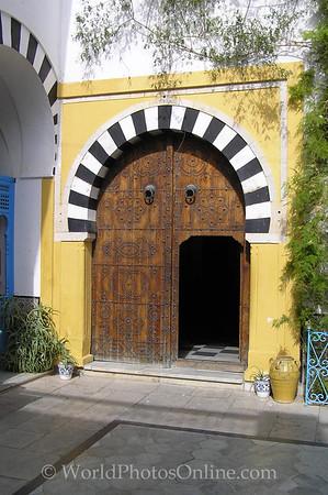 Sidi Bou Said - Residence - Entry Courtyard Door S