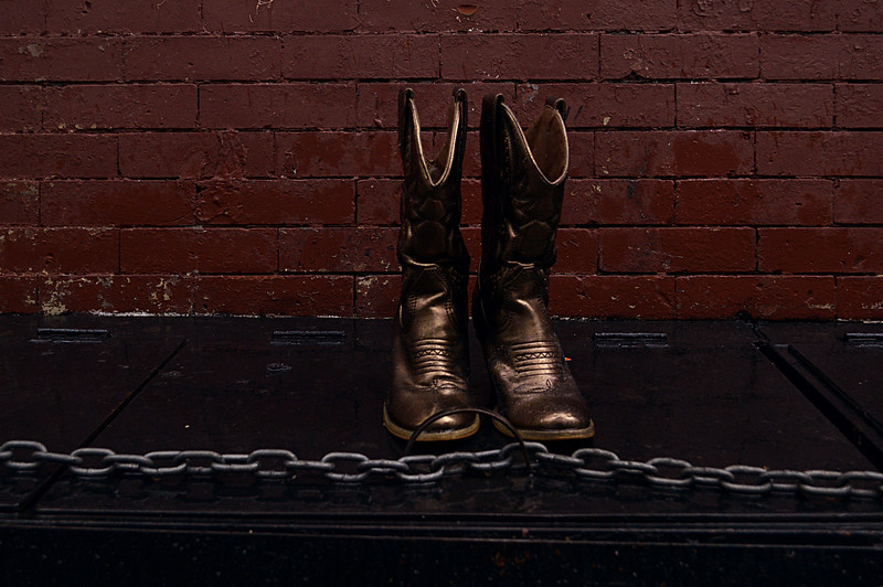 Gold Boots in the Rain