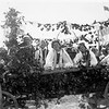 Zalishchyky. 1936.  Renia and Ariana (Elizabeth) on a wooden cart, and Roza