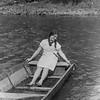 Zalishchyky, Dnister. 1936.  Renia in a boat