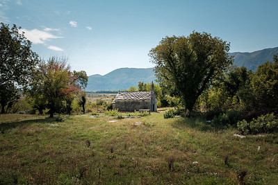 Abandoned Building In A Field, Bosnia and Herzegovina