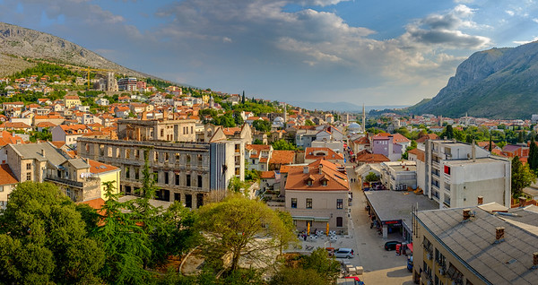 The View Of Mostar From The Karadjoz Bey Mosque Minaret, Bosnia and Herzegovina