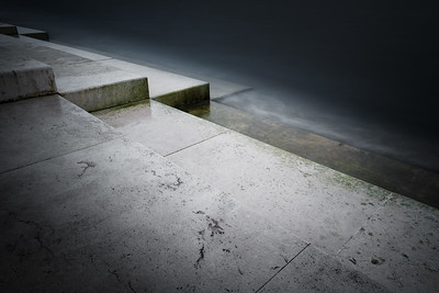 The Steps Of The Sea Organ Disappearing Into The Water- Zadar, Croatia