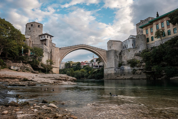 The Stari Most (Old Bridge) Over The Neretva River