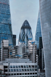 Skyscrapers In The Financial District - London, United Kingdom