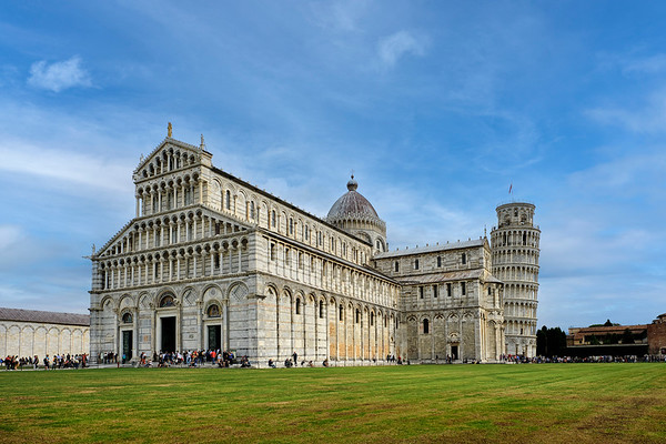 Pisa Cathedral With The Leaning Tower of Pisa