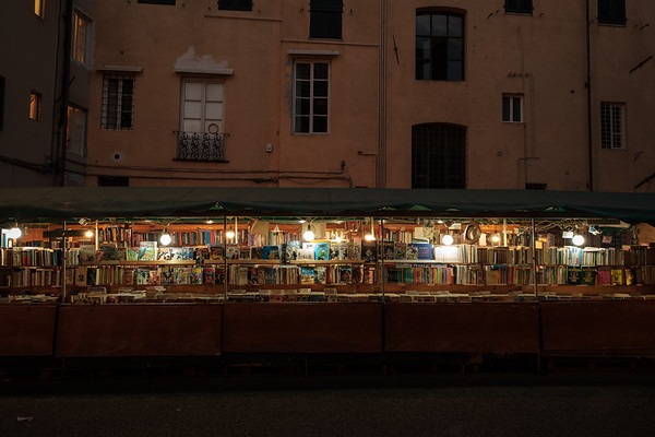 Night Book Market In Lucca