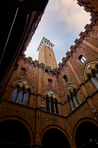 Looking Up At The Torre del Mangia Tower