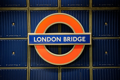 London Bridge Underground Sign - United Kingdom