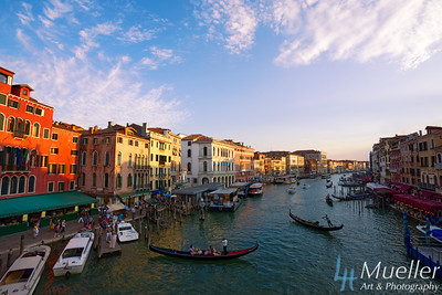 Sunset from Rialto Bridge