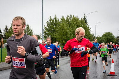 Runners in the Reykjavik Marathon 10K run on 24th of August 2013