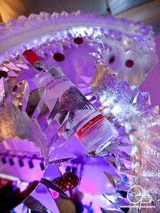 Grand Traverse Distillery cherry ice sculpture by Ice Impressions