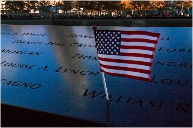 Manhattan NY World Trade Center Names 5 November 2016