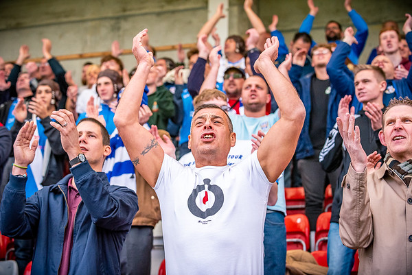 Eastleigh fans at Cheltenham Town 2015